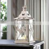 Fashion butterfly floor standing antique metal lantern for Wedding & Home decoration, colorful metal lantern
