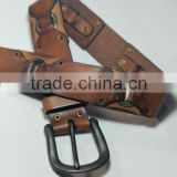 Hollow genuine leather belts