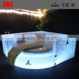 double bed designs disco glowing furniture luxury bed with slide Circle shape led bed with rgb LED lighting