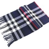 Soft Classic Cashmere Feel Plaid Checked Men Scarf Wrap Supplier