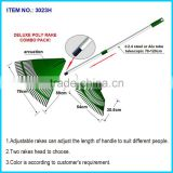 Kids Garden Tools Kids Plastic Leaf Rake/ Adjustable rakes can adjust the length of handle to suit different people