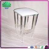 Hot Selling Clear Legs High End Bar Stool Plexiglass Bedroom Bed Foot Stool Acrylic Step Stool