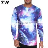 Wholesale cheap long sleeves printed sublimation t shirts t-shirt printing