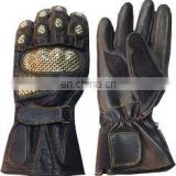 HMB-2011A, COWHIDE LEATHER GLOVES KEVLAR BIKER STYLE