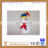 cheap christmas snowman hand puppet plush toy