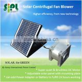 Sunny solar air exhaust blower fan centrifugal blades type roof mounted ventilation fan