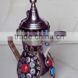 Decorative stainless stear arabian coffee pot, arabic coffee pot, dalla arabic, decorative coffee pot, metal arabian coffee pot