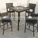Square Bar Table with Swivel Chairs