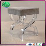 Modern Ghost Bar Side Stool Acrylic Counter Stool Plexiglass Seat Height Stool