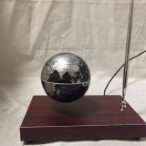rotating magnetic floating levitating bottom3 inch globe with pen
