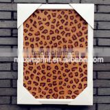 Hot sale leopard print cork board with frame