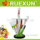 KTC003 - Hot Sale 3pcs Kitchen Ceramic Knife Set with Acrylic block.