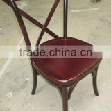living room furniture solid wood cross back restaurant chair