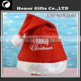 2016 Hot Sale Customized Promotional Colored Santa Hats