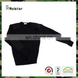 Wholesale Black Wool Round Neck Army Mens Knitted Sweater