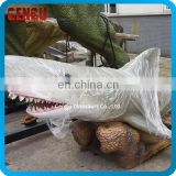Realistic 3D Rubber Shark Model Robotic Shark