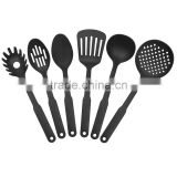 2017 hot-sale eco-friendly 6 pcs classic black nylon cooking tools