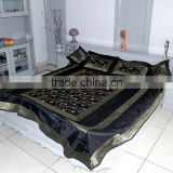 5ps Double Bed Bedsheet Embroidery Silk Bedspread India