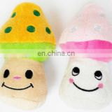 Cute Mashroom Pet Plush Toys for Dog,100% PP Cotton, High Quality