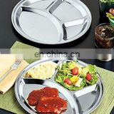 Rectangular stainless steel 5 compartment mess tray