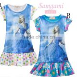 2015 New Blue Cinderella Princess Girls Children Kids Pajama Dress Cinderella Pyjamas Cinderella nighty