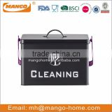 Black Powder Coating Housekeeper Cleaning metal storage box