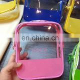 PVC clear toilet bag with zipper for promotion