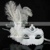 TZ-B18 Ostrich Hair Party Mask