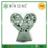 ceramic decor crafts with hearts shaped for valentines gift