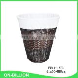 Woven dirty cloth laundry basket corner wicker basket