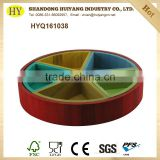 wholesale handmade round serving wooden tray