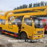 China brand new 16m to 18m hydraulic knuckle boom aerial working platform truck