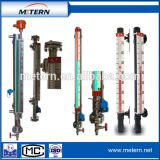 Boiler magnetic float level meter