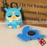 Promotional gift non-toxic soft pvc rubber owl design fridge magnet