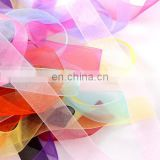 wedding beautiful decoration festival celebration colorful snow organza ribbon