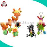 OEM toy manufacture soft plush baby rattles baby toy