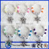 Snowflake wine charms christmas