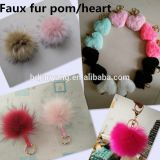 mobile phone accessories synthetic fur ball charm fake fur pompom