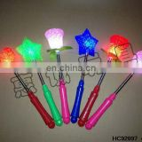 Most popular battery operated heart/star/rose led flash lighting stick HC92897