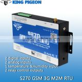 The Most Popular sms controller GSM RTU gateway S270 with IOS Android APP 2DIN 2DO 2AIN 1Temp