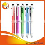 Custom 4 in 1 color stylus pen
