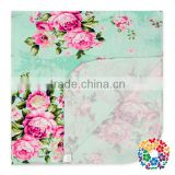 Summer Mint Floral Soft Swaddle Baby Blanket