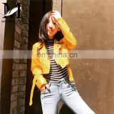 New Style Slim Zipper Mortocycle Jacket Women Leather Jackets Importers