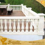 Antique Garden Decor Hand Carving White Stone Marble Balustrade