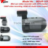 MDVR-105 best quality mobile DVR, mini DVR, video recorder with GPS tracker, 1.5inch LCD screen