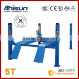 four post hydraulic cylinder car lift for wheel alignment used 4 post car lift for sale 5T
