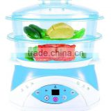 24 hours pre-set automatic plastic electrial food steamer or cooker