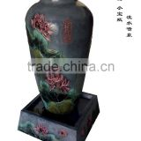 high quality classic water founatin large vase with flower pattern