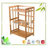 Corner Storage Furniture Bamboo microwave use kitchen shelf