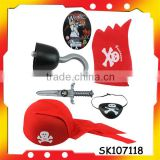 hot selling red pirate hat pirate flag with EN71